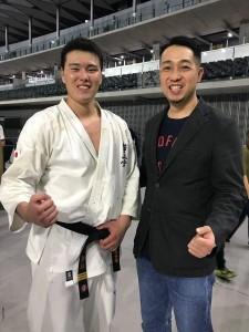 世界大会上田幹雄との写真